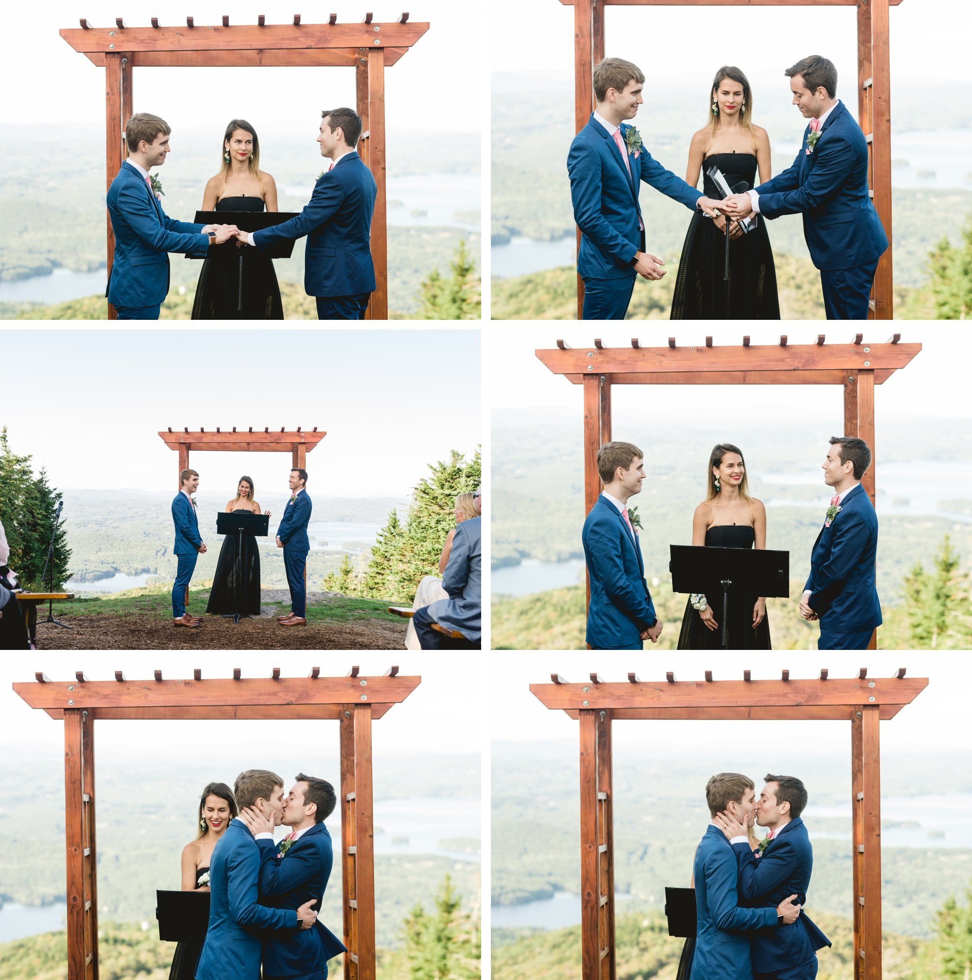 Same Sex Mount Sunapee Resort Wedding