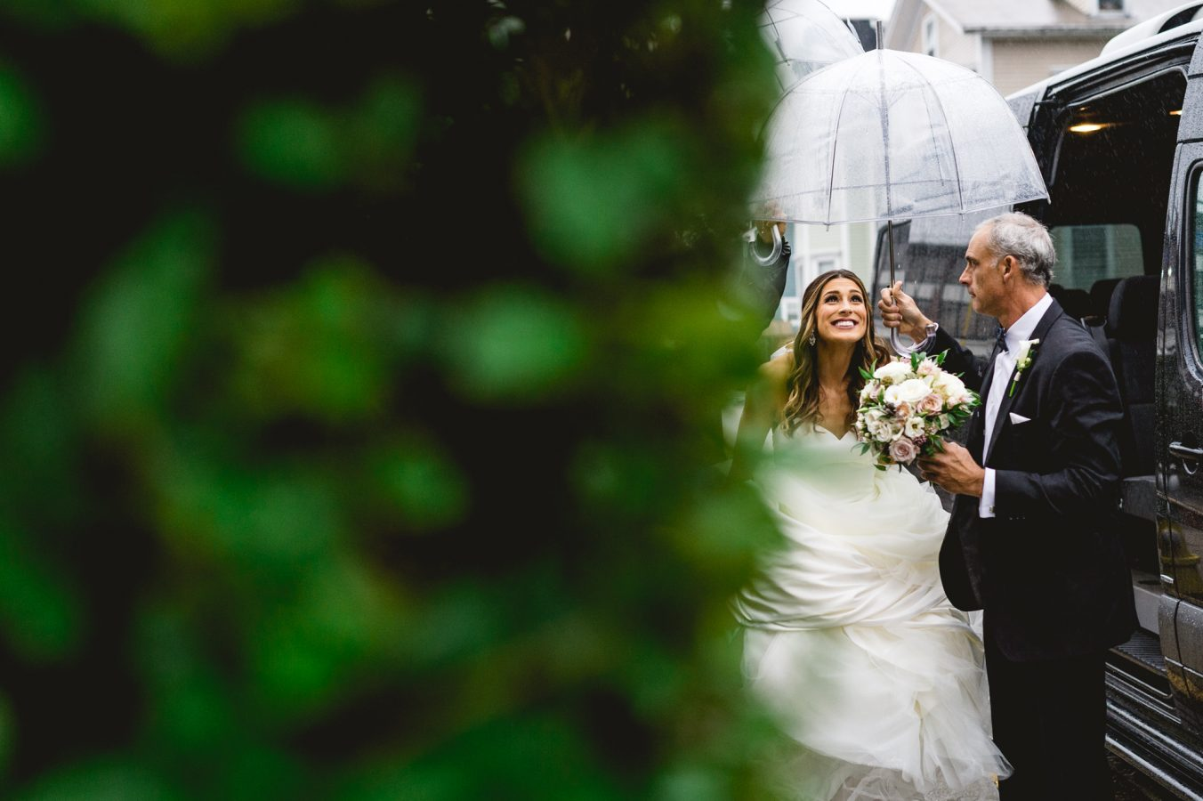 Outdoor Rainy Day Wedding